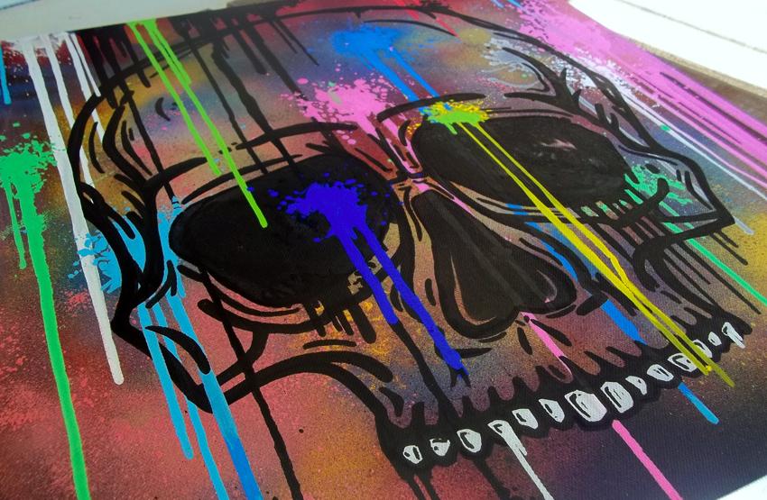 NY Skull detail