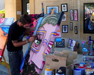 Live painting – Clotûre Bol d'Or 2015 – Cuges-Les-Pins